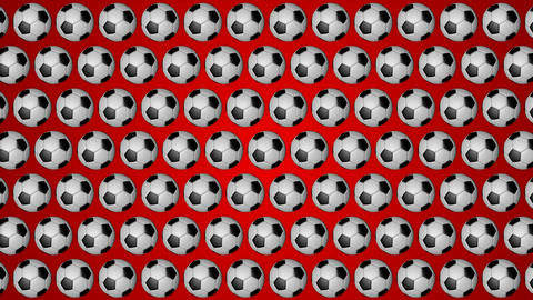 Football ball soccer red background pattern Animation