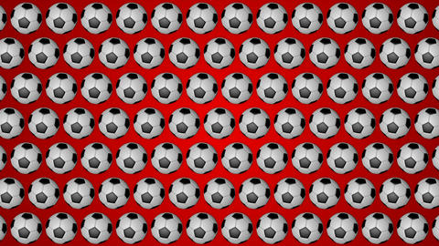 Football ball soccer red background pattern Stock Video Footage