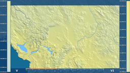 Kosovo - solar radiation, raw data Animation