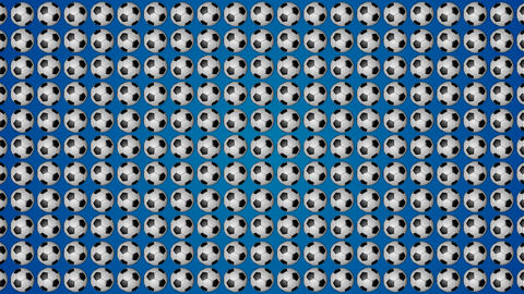 Football ball soccer blue background pattern GIF