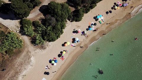 Aerial View of a beautyful Sandy Beach Archivo
