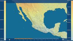 Mexico - solar radiation, raw data Animation