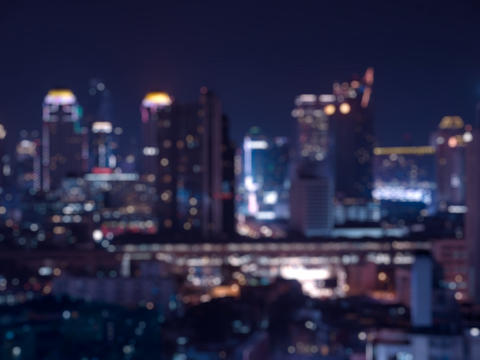 Blur bokeh city night light フォト