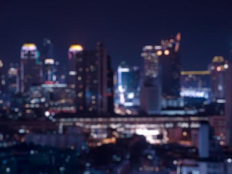 Blur bokeh city night light Fotografía