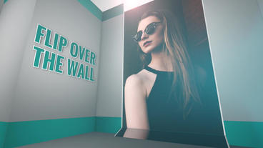Flip Over The Wall: Template for Apple Motion 5 and Final Cut Pro X Apple Motion Template
