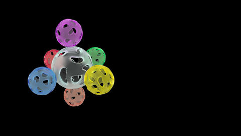 Abstract colour balls able to loop Footage