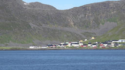 Europe Norway Honningsvåg at North Cape Norwegian village at foot of mountain GIF