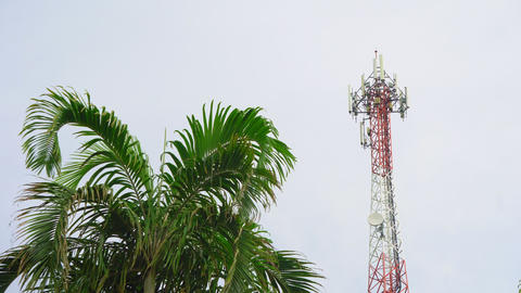 Telecommunication tower of cellular communication, the Internet and television GIF
