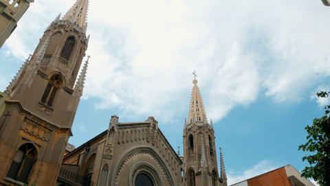tracking shot on church in Valencia, spain GIF