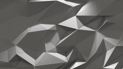 White abstract low poly triangle background with shadow Animation