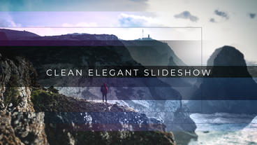 Clean Elegant Slideshow After Effects Template