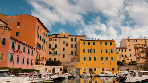 Boat Tour of Livorno in Tuscany, Italy ビデオ