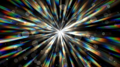 光のシャワー(ループ可能)-アルファ背景/放射状 CG動画