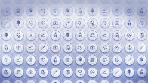 Set of Medical Icons, Medicine Background, CG Loop Animation Animation
