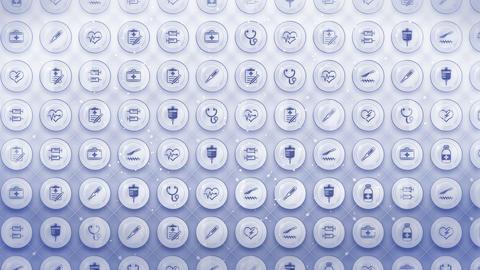 Set of Medical Icons, Medicine Background, CG Loop Animation Animation