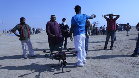 Aerial drone ビデオ