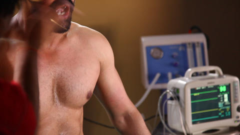 patient's chest Interior shot of General Hospital Live Action