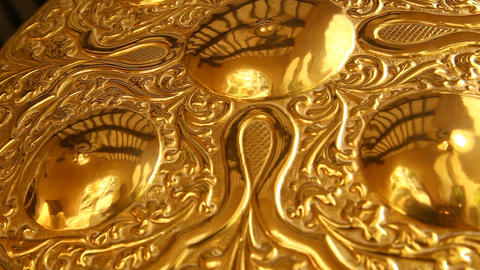 Gold jewellery Macro shot Footage