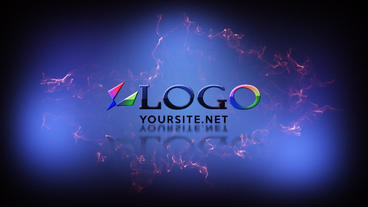 Short Logo Reveal Dark stock footage