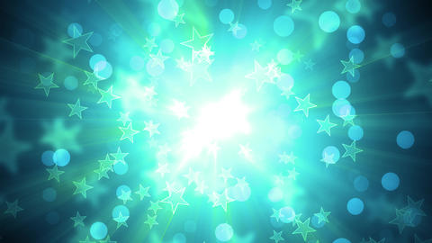Green Glittering Holiday Stars Animation