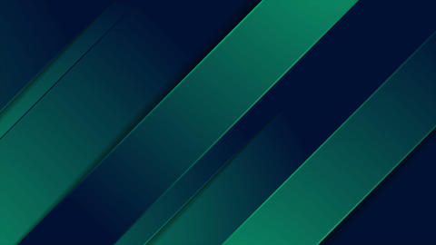 Dark green and blue stripes abstract motion background Animation