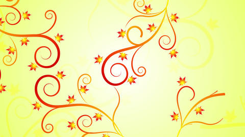 Floral Fall Filigree Animation