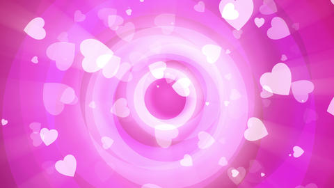 Pink Valentine Circles Animation