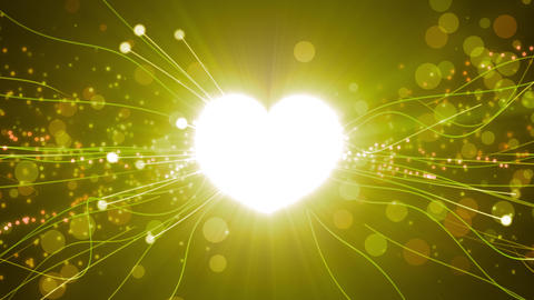 Golden Power Love Particles Stock Video Footage