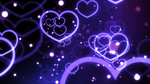 Violet Love Forever Hearts Stock Video Footage