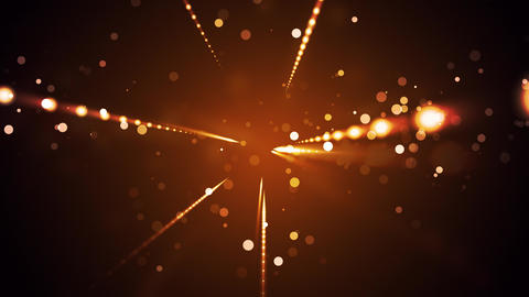 Warm Deco Particle Streaks Animation