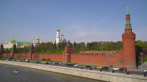 Kremlin, Moscow. Grand Kremlin palace. Ivan The Great Bell Tower. Archangel 영상물
