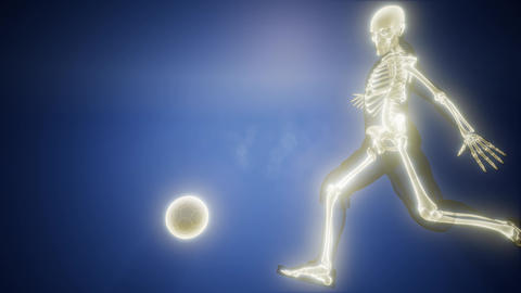 soccer player with visible bones Footage