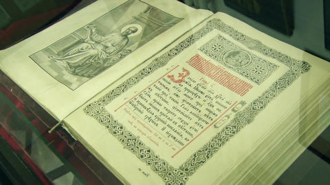 A very old Orthodox book Footage