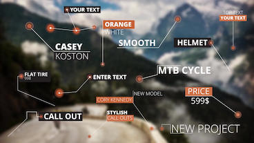 15 Call Out Titles After Effects Template