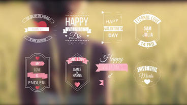 Love Titles Motion Graphics Template