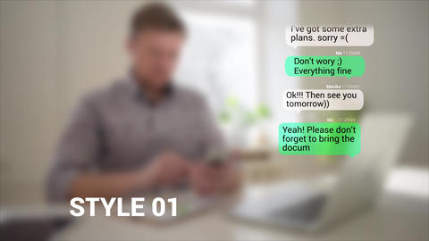 Text Message After Effects Template