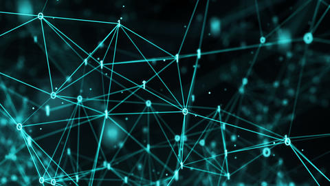 Abstract Motion Background - Digital Binary Polygon Plexus Data Networks 애니메이션