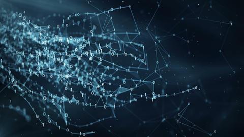 Abstract Motion Background - Digital Binary Plexus Data Networks Animation