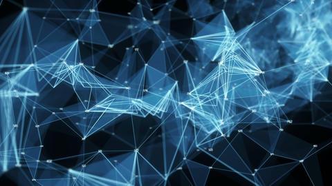 Abstract Motion Background - Digital Polygon Random Digits Plexus Data Networks Animation
