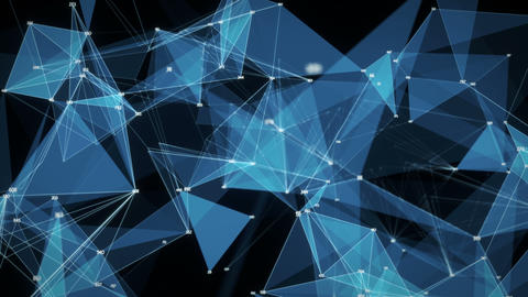 Abstract Motion Background - Digital Polygon Random Digits Plexus Data Networks Animation