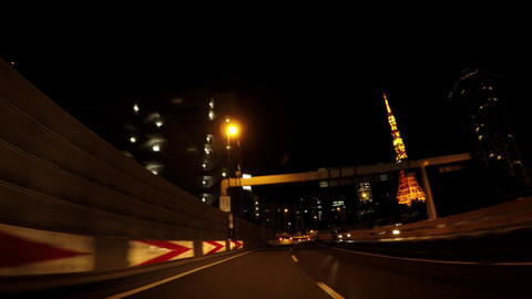 Japanese city scape. View of Tokyo at night ビデオ