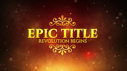 Epic Title モーショングラフィックステンプレート