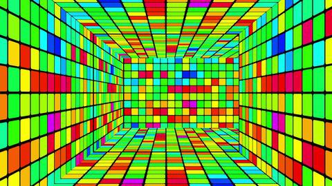 Retro Disco Lights Labyrinth 01 Stock Video Footage