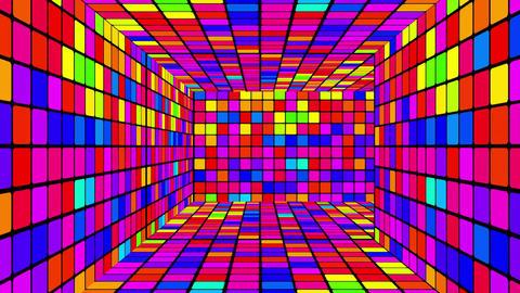 Retro Disco Lights Labyrinth 03 Stock Video Footage