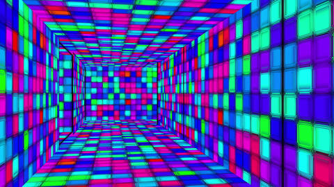 Retro Disco Lights Labyrinth 05 Animation