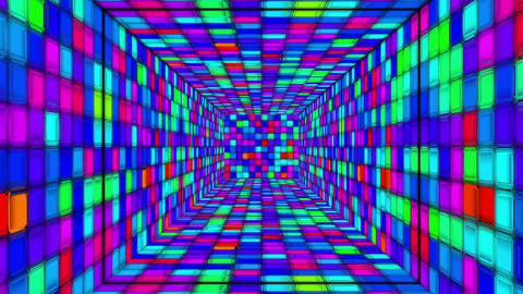 Retro Disco Tunnel 06 Stock Video Footage