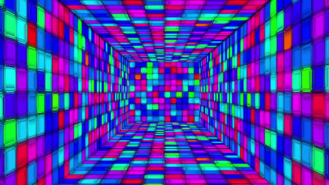 Retro Disco Tunnel 06 Animation