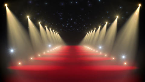 Red carpet loop Stock Video Footage