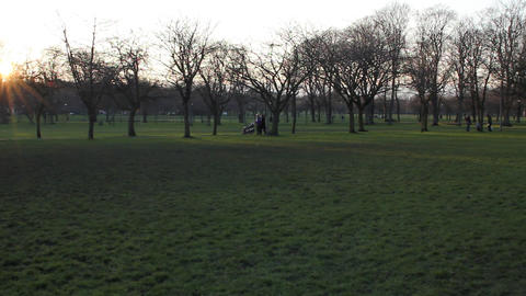 The Meadows park in Edinburgh Footage