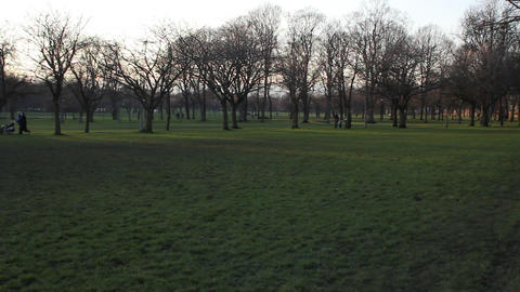 The Meadows park in Edinburgh Stock Video Footage